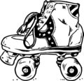 Retro Roller Boots Vector Illu Stock Photography