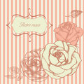 Retro roses frame Royalty Free Stock Image