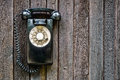 Retro rotary black phone Royalty Free Stock Photo