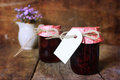 Retro rustic homemade jam jar