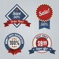 Retro sale badges set template vintage logo template design Stock Photo