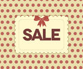 Retro sale poster, red dots background Stock Image