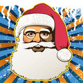 Retro santa claus face Royalty Free Stock Photography