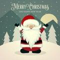 Retro Santa poster