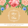 Retro Save the Date card