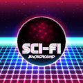 Retro sci fi background11 Royalty Free Stock Photo