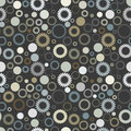 Retro seamless gear background Stock Images