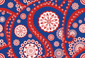 Retro seamless paisley (turkish cucumber) pattern Royalty Free Stock Photo