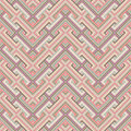Retro seamless pattern abstract ethnic geometric vector illustration Royalty Free Stock Images