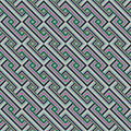Retro seamless pattern abstract ethnic geometric vector illustration Royalty Free Stock Photography
