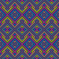 Retro seamless pattern abstract ethnic geometric vector illustration Royalty Free Stock Image