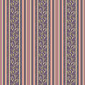 Retro seamless pattern background with elegance fl stylish floral borders and pastel colored lines vector illustration Stock Photo