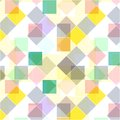 Retro seamless pattern. Colorful mosaic banner. Repeating geometric tiles with colored rhombus.