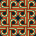 Retro seamless pattern geometric vintage illustration Royalty Free Stock Photos
