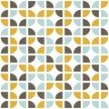 Retro seamless pattern. Mid-century modern style.