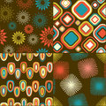 Retro - seamless pattern set Royalty Free Stock Photography