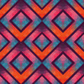 Retro seamless pattern with squares, hand drawn backdrop, mosaic Royalty Free Stock Photo