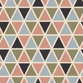 Retro seamless pattern with triangles. Scandinavian style.