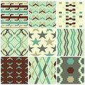 Retro seamless patterns different Royalty Free Stock Image