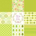 Retro seamless patterns Royalty Free Stock Photo