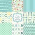 Retro seamless patterns 3 Royalty Free Stock Photo