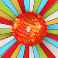 Retro shining disco ball Royalty Free Stock Photography