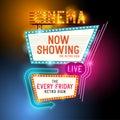 Retro Showtime Sign Royalty Free Stock Photo