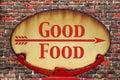 Retro sign Good Food Royalty Free Stock Photo