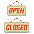 Retro signs Open and Closed Royalty Free Stock Photos