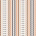 Retro Simple Brown Beige Stripe Lines Textile Background Pattern Royalty Free Stock Photo