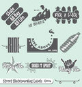 Retro Skateboarding Labels and Stickers Royalty Free Stock Photo