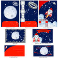 Retro space stationary brochure design flyer design and business card design in one package and fully editable Royalty Free Stock Photos