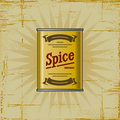 Retro Spice Can