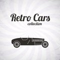 Retro sport racing car vintage collection classic garage sign vector illustration background can be used for design card Stock Photo
