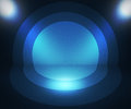 Retro spotlight blue background dark Royalty Free Stock Images