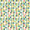 Retro Spring seamless pattern of abstract easter eggs.