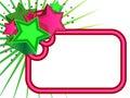 Retro Stars banner Royalty Free Stock Photo