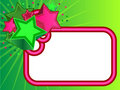 Retro Stars Banner on Green background Royalty Free Stock Photo