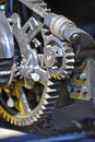 Retro Steam engine gears Royalty Free Stock Photo