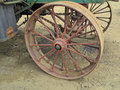 Retro Steam engine tractor wheel Royalty Free Stock Photos