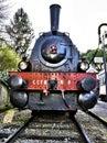 Retro steam locomotive Royalty Free Stock Photo