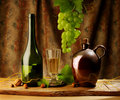 Retro still life with wine Royalty Free Stock Image