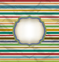 Retro stripe pattern, colorful vintage background Stock Photography