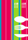 Retro striped menu design Royalty Free Stock Photo