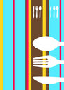 Retro striped menu design Royalty Free Stock Photography