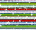 Retro Stripes Christmas Print Stock Image