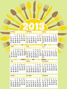 Retro style 2013 kitchen calendar Stock Photo