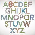 Retro style alphabet. Royalty Free Stock Photos