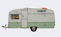 Retro style caravan s with clipping path Royalty Free Stock Photo