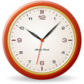 Retro style clock Royalty Free Stock Photos